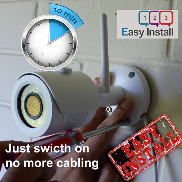 features easy install short time homesecured