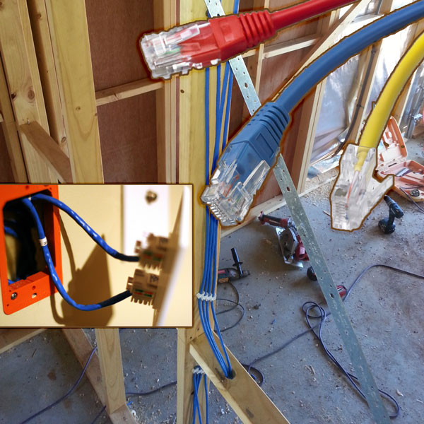 LAN cabling for free on construction site offer