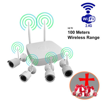 4 megapixels WiFi Wireless Security camera package CCTV Video system