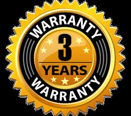 installation steps 3 years warranty