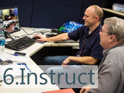 installation steps instruct teach