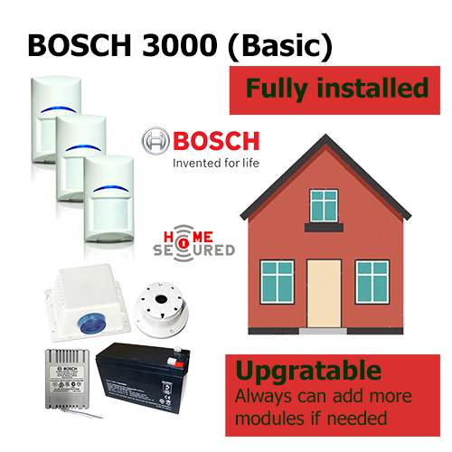 HomeSecured home secured alarm system basic Bosch 3000 pack