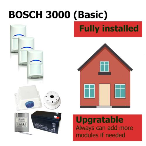 HomeSecured home secured alarm system basic bosch 3000 pack