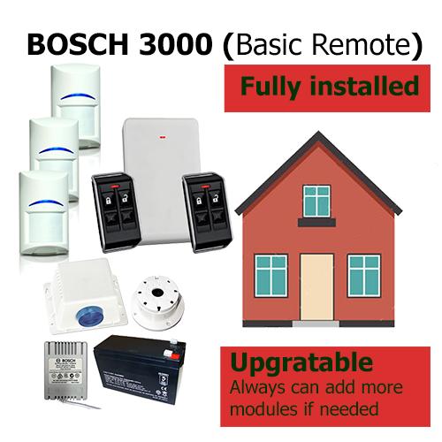 HomeSecured home secured alarm system basic Bosch 3000 pack remote
